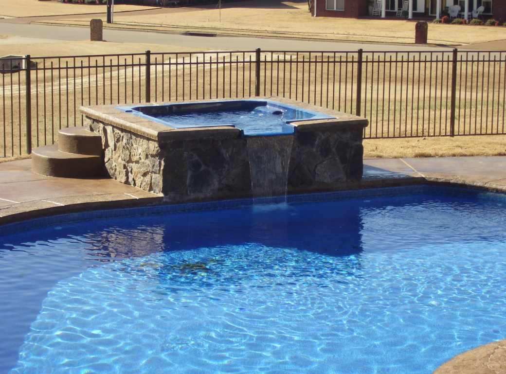 Swimming Pool Water : Swimming pool water features tn advanced pools inc