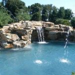 Rock waterfalls add beauty and intrigue