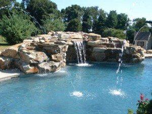 Rock waterfalls add beauty and intrigue